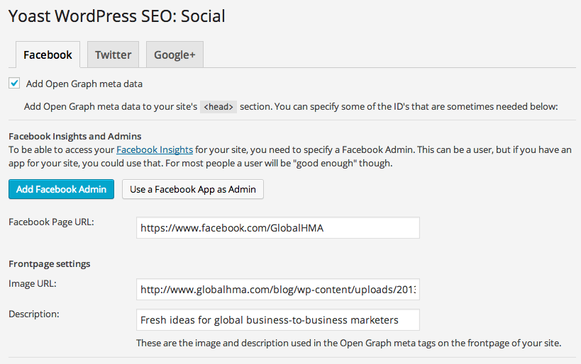 Yoast WordPress SEO Social Graph